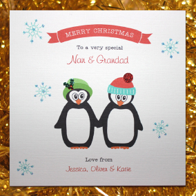 christmas card penguins