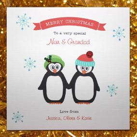 christmas card penguins