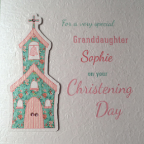 handmade christening card