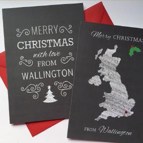 chalk christmas cards