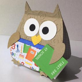 sizzix owl school card