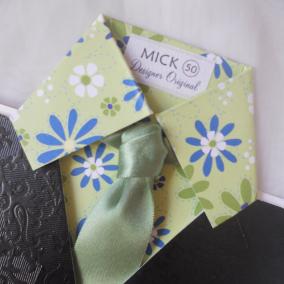 handmade shirt and tie birthday card